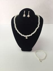 Star necklace,earring and bracelet set.