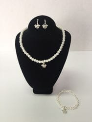 Crown necklace,earring and bracelet set.