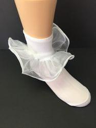 White tulle sock