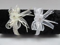 White or Ivory braided infant headband