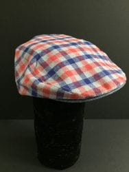 Checker Print Newsboy Hat