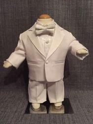White Tuxedo With Paisley
