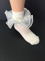 Ivory tulle sock