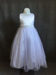 Satin Bodice Dress- WHITE