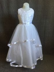Sleeveless floral sequin dress