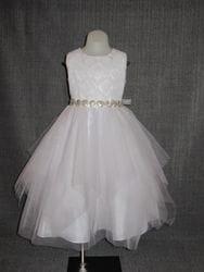 Lace Bodice Layered Dress- WHITE