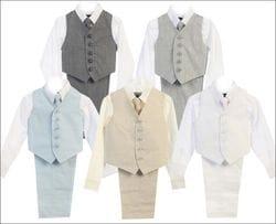 4 Piece Linen Vest Set