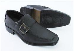 MAVEZZANO-Black Loafer Style Dress Shoe