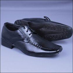 MAVEZZANO- Cap Toe Black Oxford Dress Shoe