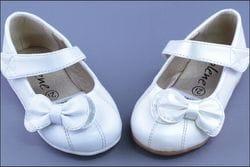 JOLENE- Ivory or White Shoe With Bow