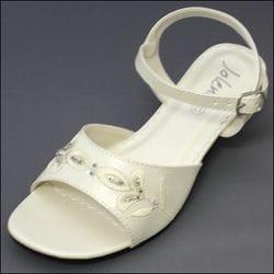 JOLENE- Ivory Beaded Sandal