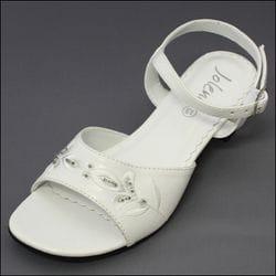 JOLENE- White Beaded Sandal