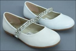 JOLENE- Flats With Rhinestones & Pearls