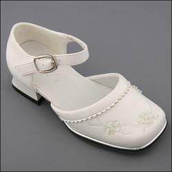 JOLENE-White Chunky Heel