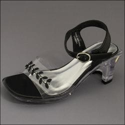 JOLENE- Black Clear Heel