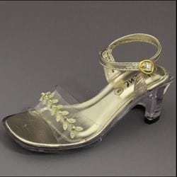 JOLENE- Gold Clear Heel