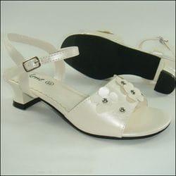 JOLENE- Ivory Sandal With Heel