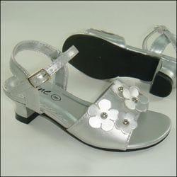 JOLENE- Silver Sandal With Heel