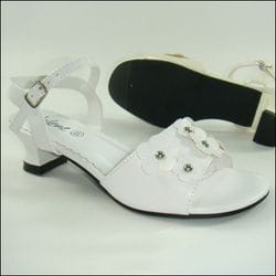 JOLENE- White Sandal With Heel
