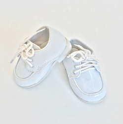 TENDERTOES-White Lace Up Shoe