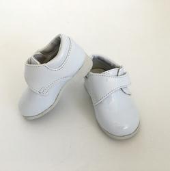 TENDERTOES-White Patent Velcro Shoe