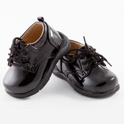 TENDERTOES-Black Patent Tie Up Shoe