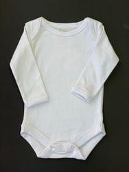 Plain long sleeve onesie