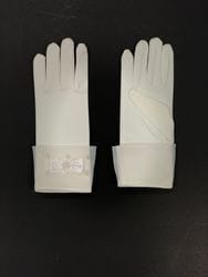 Bow and Pearl Gloves- Ivory