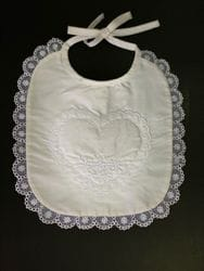 Heart silk bib