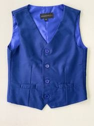 Blue Wool Blend Vest