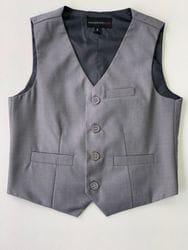 Grey Wool Blend Vest