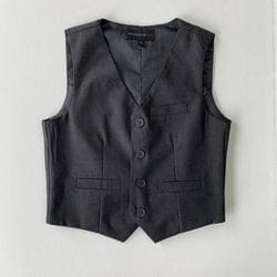 Charcoal Wool Blend Vest