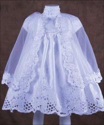 Flower printed Baptism dress