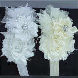 Ivory Floral infant headband