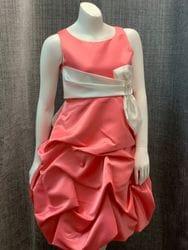Satin Coral Dress