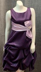Satin Purple Dress