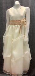 Ivory/Champagne Satin Dress