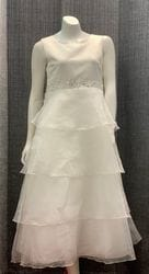 Off White Satin Dress