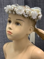 Ivory, White and Gold Floral Crown