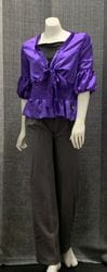 Purple Blouse and Grey Pant Set