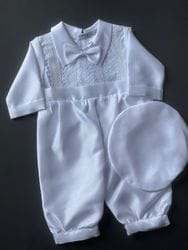 Lace Front One-Piece Baptism Outfit