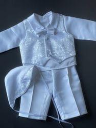 Paisley Baptism Vest Suit
