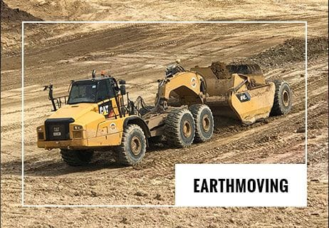 Heavy earthmoving equipment working on site on the Darling Downs