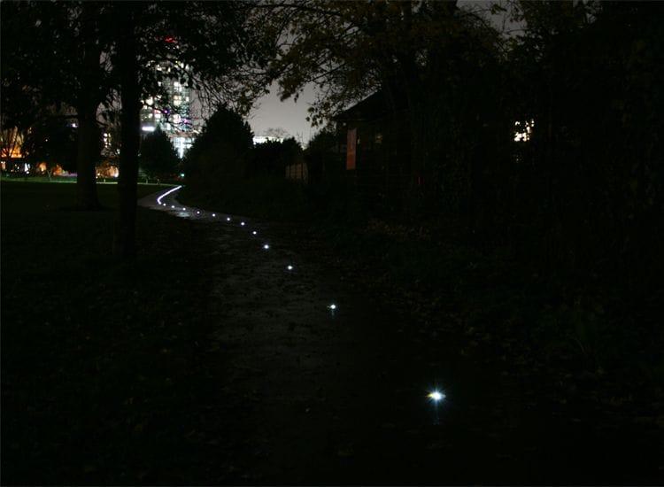 Solar-powered light path