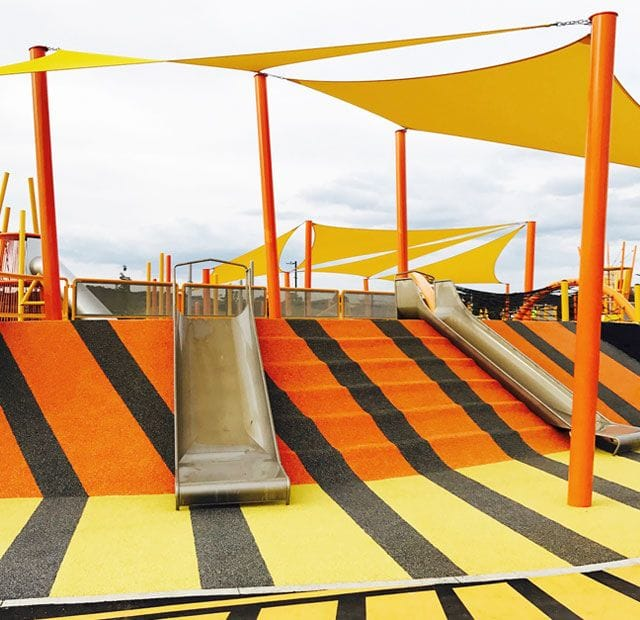 Surface Designs Rosehill TPV® Rubber Wetpour Playground | Moncrieff Community Recreational Park Canberra by Bruces Playgrounds