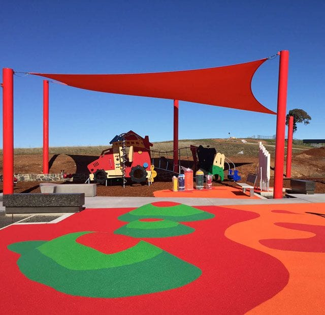 Surface Designs Rosehill TPV® Rubber Wetpour Playground