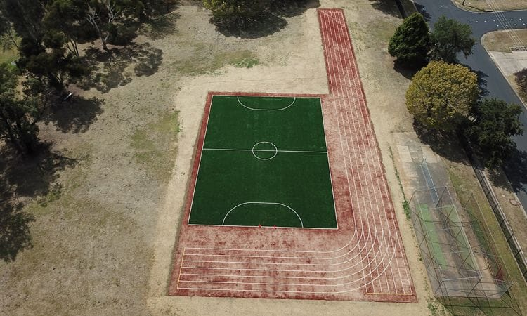 Synthetic Grass and Rubber | Synthetic Grass Multi-Purpose Court