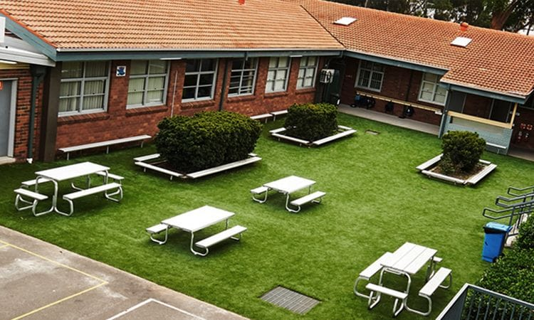 Synthetic Grass Playground, Primary School, Sydney
