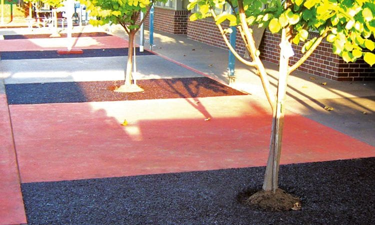 Rubber Wetpour Tree Surrounds | Synthetic Grass and Rubber