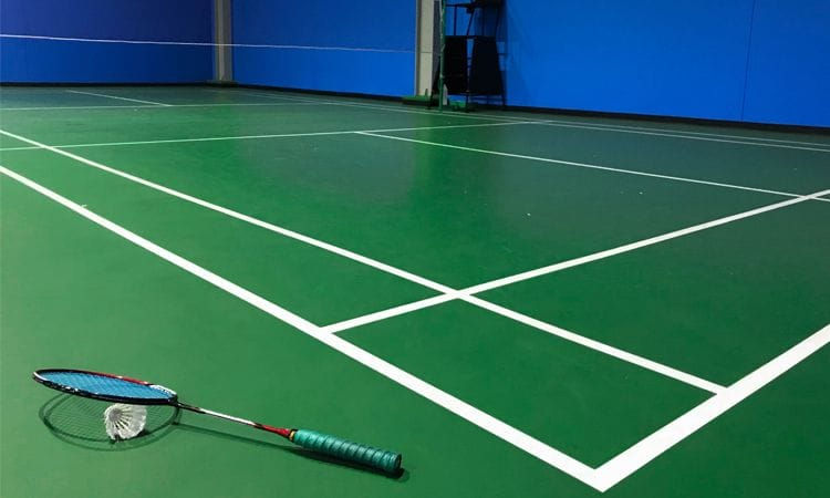 Synthetic Grass and Rubber Surface | Rubber Wetpour Badminton